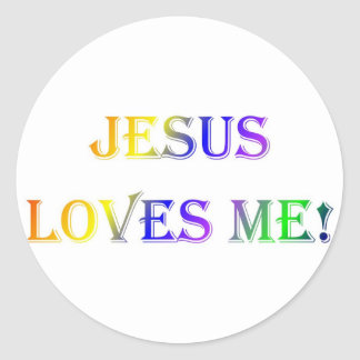 INSPIRATIONAL RELIGION FAITH CLASSIC ROUND STICKER