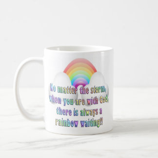 Inspirational Religious Coffee Mug Cup Rainbow