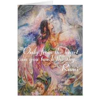 Inspirational RUMI Quote About Changing Yourself Card