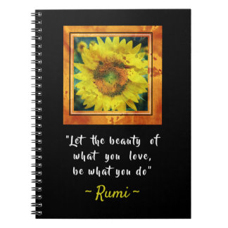 Inspirational Rumi Quote Notebook