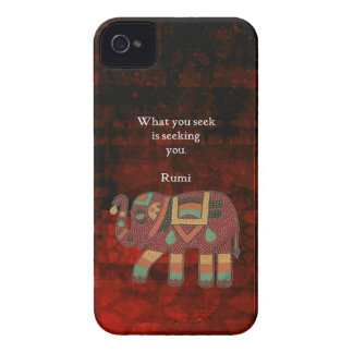 Inspirational Rumi What You Seek Quote iPhone 4 Cover