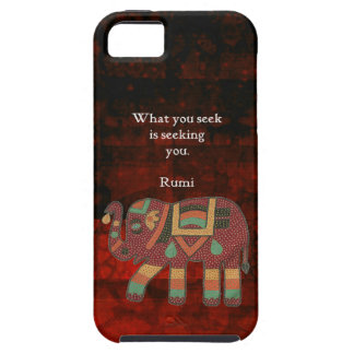 Inspirational Rumi What You Seek Quote iPhone 5 Case