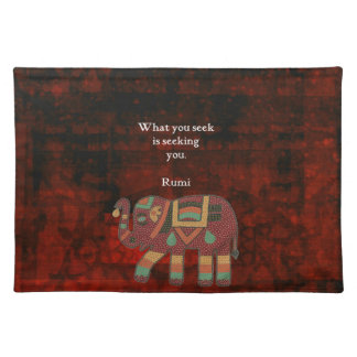 Inspirational Rumi What You Seek Quote Placemat