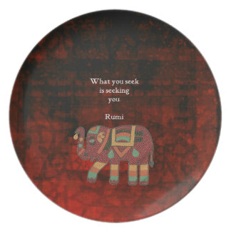 Inspirational Rumi What You Seek Quote Plate