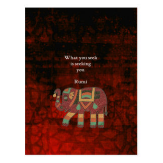 Inspirational Rumi What You Seek Quote Postcard