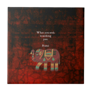 Inspirational Rumi What You Seek Quote Small Square Tile