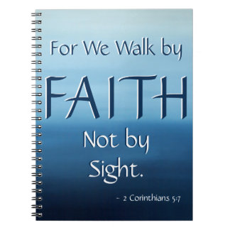 Inspirational Scripture FAITH Ocean Air Notebook