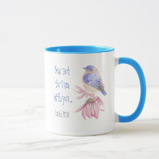 Inspirational Scripture Isaiah 40:10 Bluebird Mug
