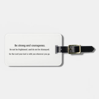 Inspirational Scripture luggage tag