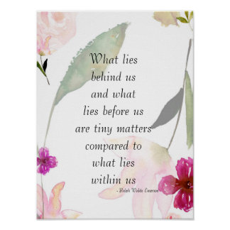 Inspirational So Beautiful Watercolor Floral Poster