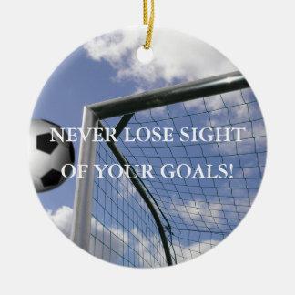 Inspirational Soccer Goals Ornament
