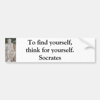 Inspirational Socrates Quote Bumper Sticker