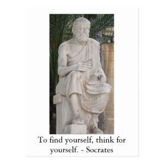 Inspirational Socrates Quote Postcard