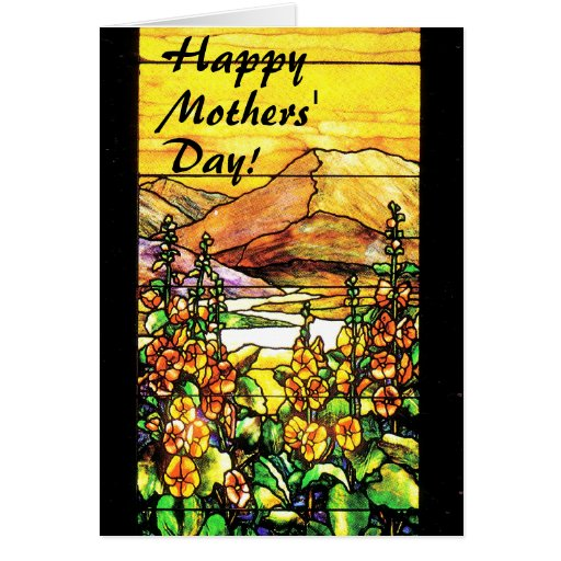 Inspirational Stained Glass Moms Day Card