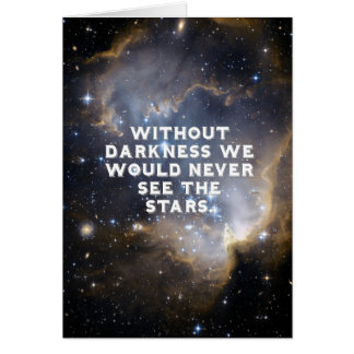 Inspirational Stars and Galaxy Card