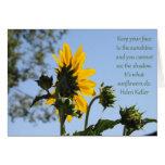 Inspirational Sunflower Card