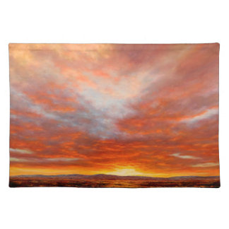Inspirational Sunrise One Sided Cotton Placemat