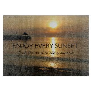 Inspirational Sunset at the Beach Cutting Board