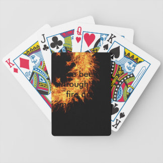 Inspirational survivor message bicycle playing cards