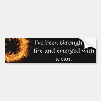 Inspirational survivor message bumper sticker