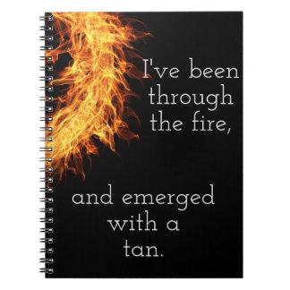 Inspirational survivor message notebook