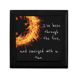 Inspirational survivor message small square gift box