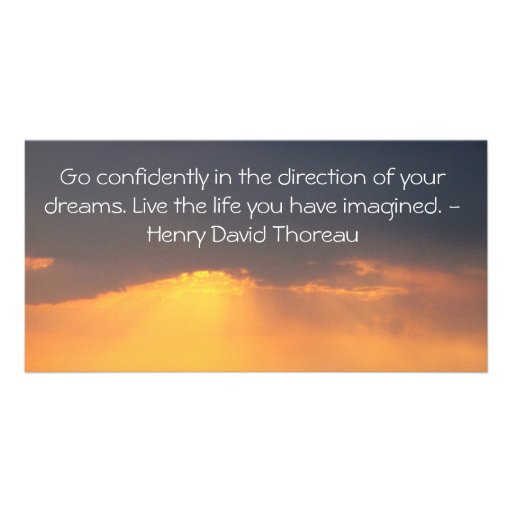 Inspirational Thoreau Quote Picture Card