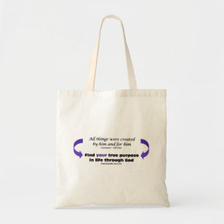 Inspirational Tote Bag, Colossians 1:16b