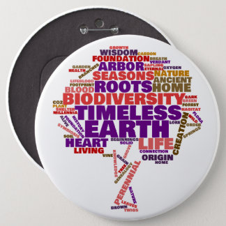 Inspirational Tree of Life Tag Cloud 6 Cm Round Badge