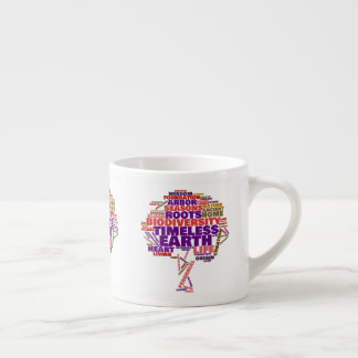 Inspirational Tree of Life Tag Cloud Espresso Cup