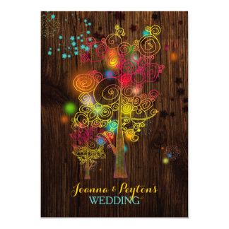 Inspirational Trees Hipster Country Wedding Card