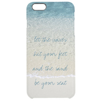 Inspirational Turquoise Blue Ocean Surf Waves Clear iPhone 6 Plus Case