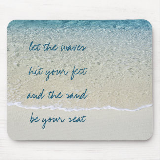Inspirational Turquoise Blue Ocean Surf Waves Mouse Pad