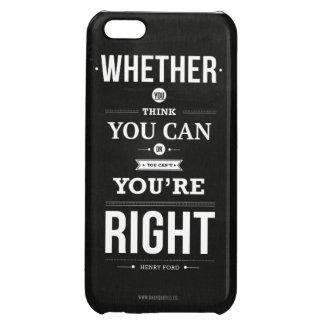 Inspirational Typography Case iPhone 5C Case