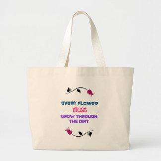 Inspirational Typography Quote For Gardeners Jumbo Tote Bag