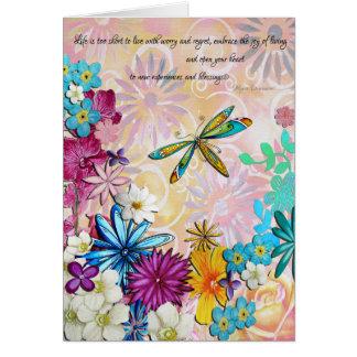 Inspirational Uplifting Encouraging Floral Card