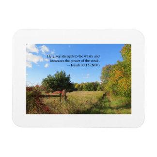 Inspirational Verse - Isaiah 30:15 Rectangular Photo Magnet