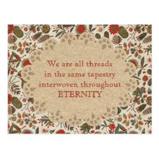 Inspirational Vintage Botanical Tapestry Postcard