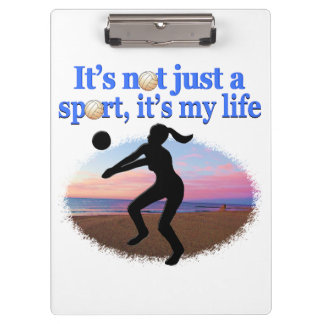 INSPIRATIONAL VOLLEYBALL IS MY LIFE DESIGN CLIPBOARDS