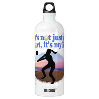 INSPIRATIONAL VOLLEYBALL IS MY LIFE DESIGN SIGG TRAVELLER 1.0L WATER BOTTLE