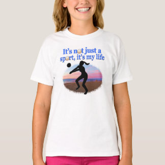 INSPIRATIONAL VOLLEYBALL IS MY LIFE DESIGN TEE SHIRTS