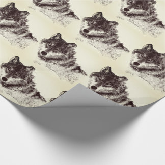 Inspirational Wolf Eyes Wrapping Paper