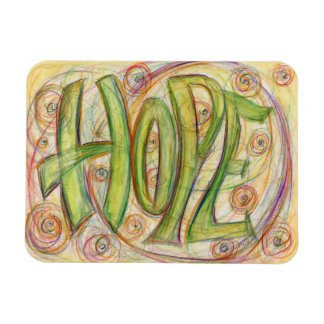 Inspirational Word Hope Art Custom Magnets