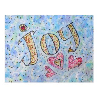 "Inspirational Word ""Joy"" Postcard"