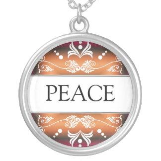 Inspirational Word - PEACE Pendant