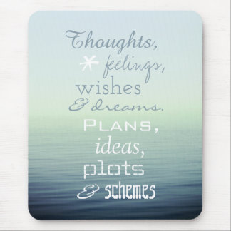 Inspirational Word Poem Mouse Pad