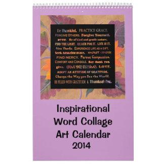 Inspirational words and flowers calendar