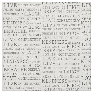 Inspirational Words Fabric