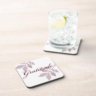 Inspirational Words Gratitude Drink Coaster