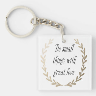 Inspirational Words Key Ring